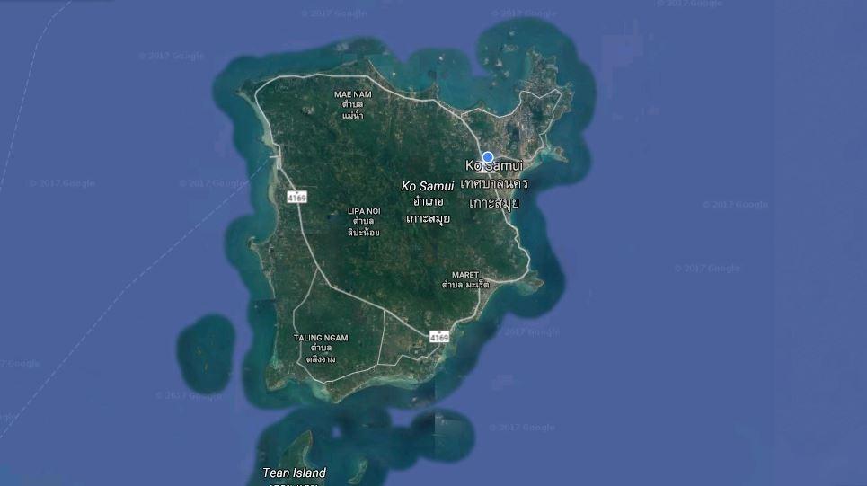 Koh Samui Map