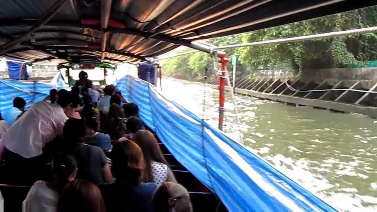 Klong (Canal) Boat Bus - Bangkok Thailand