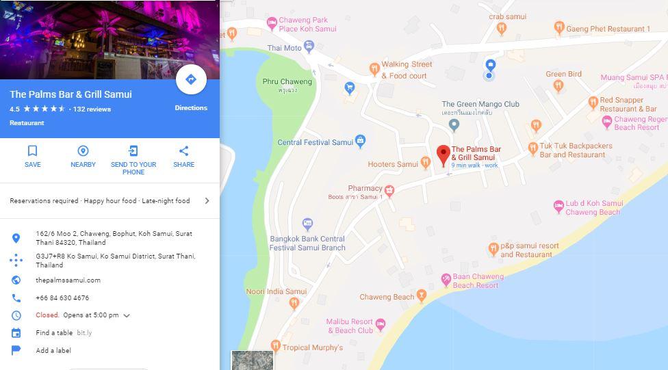 The Palms Google Maps